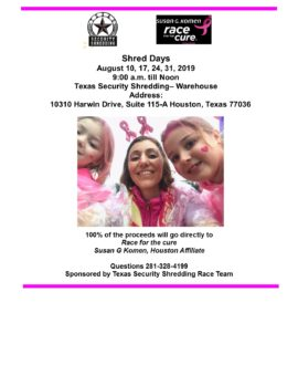 Shred Day With Susan G Komen